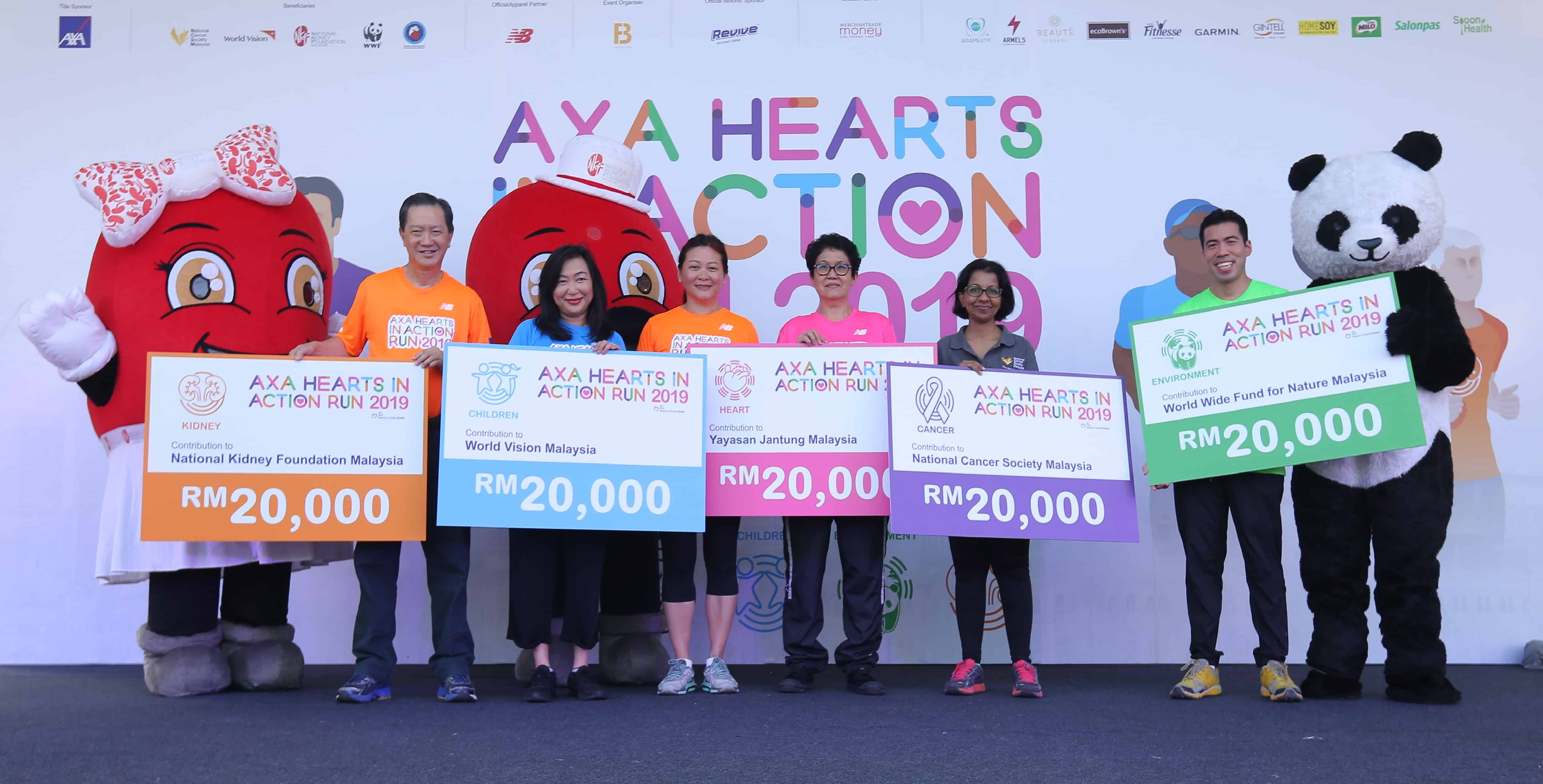 AXA Empowered 6,500 Runners to Contribute to 5 Good Causes