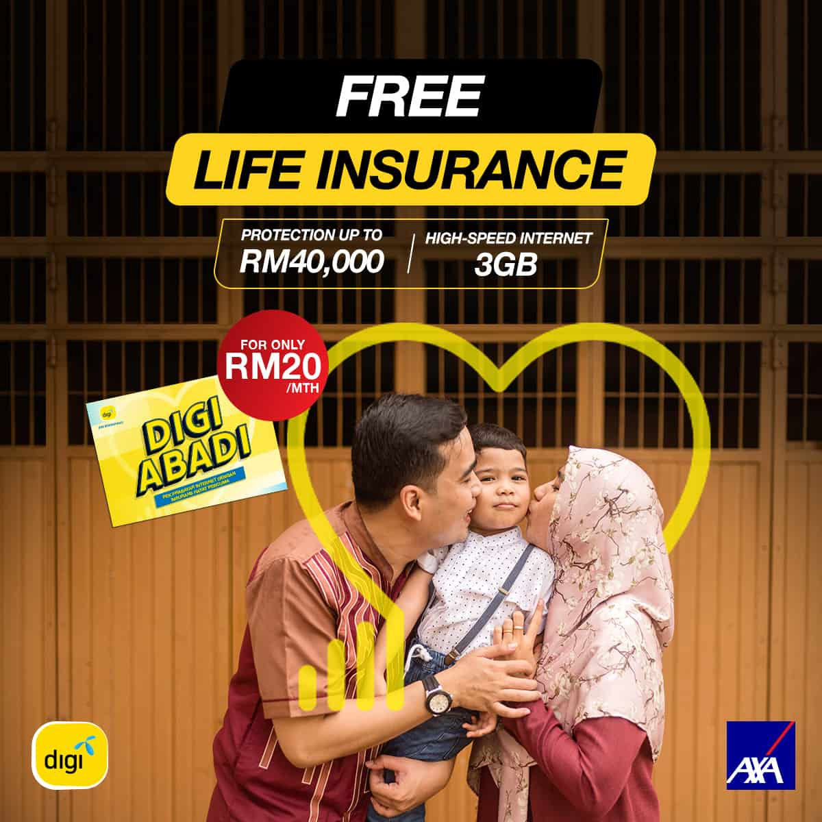 Digi Partners AXA AFFIN to Protect You