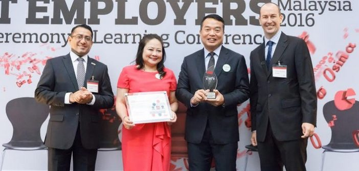 Aon Announces Ten Best Employers in Malaysia for 2016